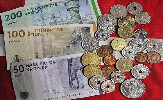 Směnárenské služby, valuty Hodonín - Dánská koruna
