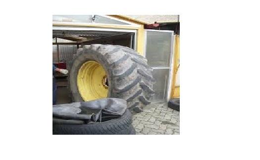 Výměna, oprava pneumatik nákladní vozidla, stavební stroje