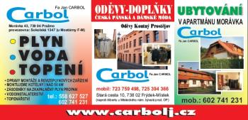 Plyn-voda-topen�, ubytov�n�, od�vy, Jan Carbol