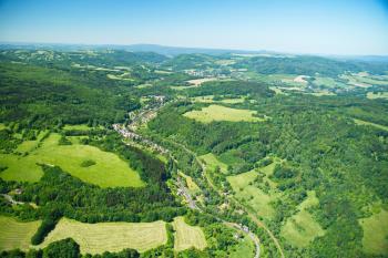 Snímek z letadla, Obec Františkov nad Ploučnicí