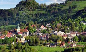 Pohled na Jiřetín pod Jedlovou, Obec Jiřetín pod Jedlovou