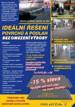 Podlahové plastové panely z PVC, PODLAHY Liška, s.r.o.