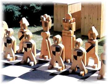 Dřevěné zahradní šachy, Petr Zeman