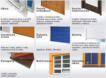Mont� oken, �aluzie, venkovn� parapety, vnit�n� parapety, dve�e, gar�ov� vrata, ANKO - okenn� a st�n�c� technika Kol�n Martin Scheder