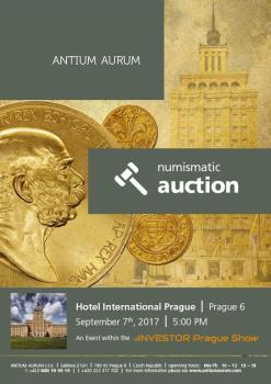 Numismatická aukce 2017 v Praze, ANTIUM AURUM s.r.o. Výkup a prodej mincí Praha