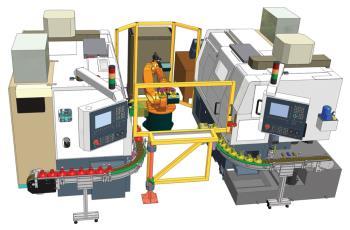 Robotizovan� pracovi�t� SP 15 CNC, CZ.TECH �el�kovice, a.s. Prodej zarovn�va�ek a navrt�va�ek
