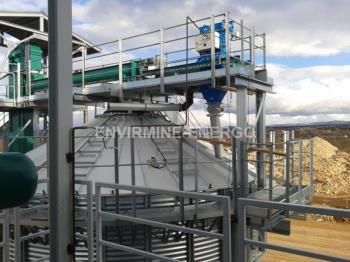 Naskladňování biomasy, ENVIRMINE-ENERGO, a.s.