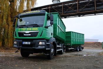 Kontejnerová autodoprava - odvoz odpadu, ROBICONT Robert Lučan