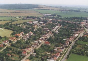 letecký snímek, Obec Horní Moštěnice