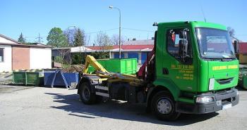 Přistavení kontejneru, odvoz a likvidace odpadů, ROBICONT Robert Lučan