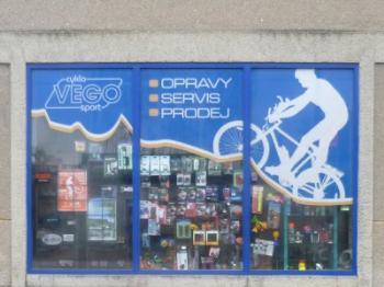 Pohled na prodejnu, Cyklo Sport VEGO Lubom�r Vesel�