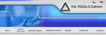 Advok�tn�,zn�mkov�, patentov� kancel�� Praha, Rott, R�i�ka & Guttmann Patentov� a advok�tn� kancel�� Praha