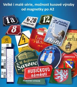 smaltované a plechové tabule, SMALTOVNA TUPESY, a.s.