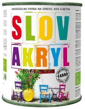 univerzální barva Slovakryl na kov, beton, dřevo, lepenku, Slovlak CZ, s.r.o.