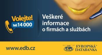 Veškeré informace o firmách a službách na telefonním čísle 14 000., Evropská databanka a.s.
