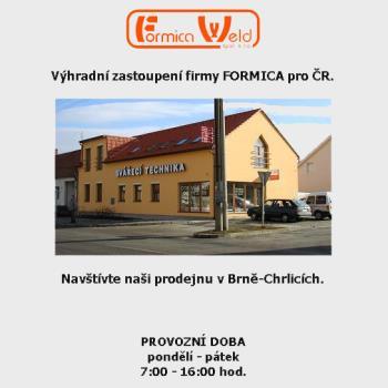 Prodejna v Brn�-Chrlic�ch, FORMICA WELD spol. s r.o.