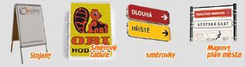 Venkovn� reklama - stojany, sm�rovky, �t�tov� tabule, Reklama online s.r.o.