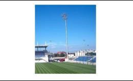 Stožáry pro osvětlení sportovišť a sportovních areálů, stadionů - výroba, dodávka