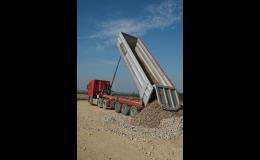 Dodávky kameniva a písků