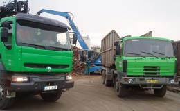 Odvoz materiálu nákladními vozy Havířov