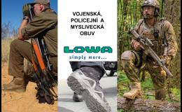 Vojenská, policejní a myslivecká obuv