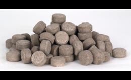 Tabletová, pomalu rozpustná hnojiva