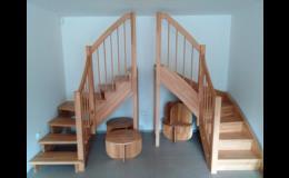 Výroba dřevěného schodiště