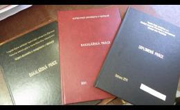 Vazby diplomových, bakalářských prací, knih Ostrava