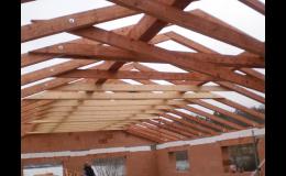 Tesařství - výroba a dodávka střešních konstrukcí a krovů Telč, Jihlava