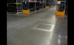 reference průmyslové podlahy - regálový sklad