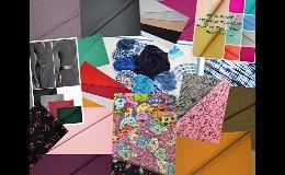 Úplety - bavlna, elastické, jednolíc, oboulíc, jednobarevné i s digi tiskem.