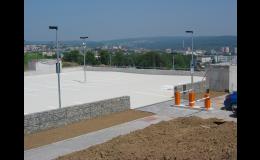 reference betonove podlahy - střecha parking VUT Brno