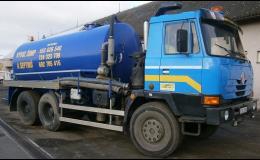 Speciální fekální vozy pro vývoz tekutých odpadů