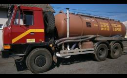 Odvozy fekálií, umělých hnojiv, znečištěných kapalin pro domácnosti a firmy