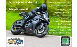 akce při nákupu motocyklových pneumatik