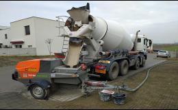 Doprava a přečerpání anhydritu, cementového potěru, pěnobetonu Třebíč, Znojmo