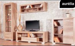 Obývací pokoj v provedení moderního a nadčasového lamina Aurélia