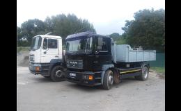Přeprava sypkých materiálů, odvoz odpadu