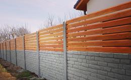 Kombinace betonových desek a dřeva