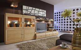 Obývací stěny a komody od českých výrobců nábytku v prodejně Nábytek Blansko