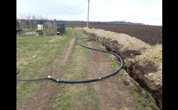 Vodohospodářské stavby - odbahnění rybníků, výstavba kanalizací Znojmo