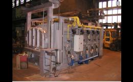 řídící systém dvoukomorové kovářské pece Třinec