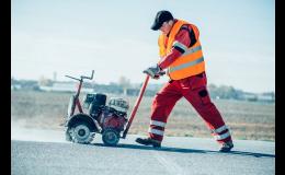 Broušení povrchu silnic, cest, komunikací