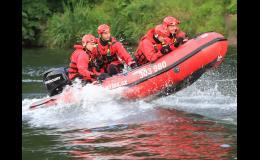 Profesionální čluny pro záchranáře a hasiče - dodávka
