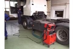 Měření emisí nákladních aut