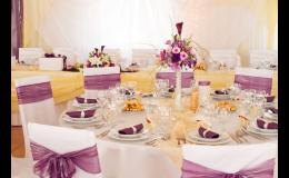 dekorace sálu, na svatební tabuli - Zlínský kraj