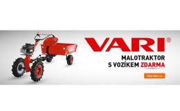 Malotraktor s vozíkem Vari