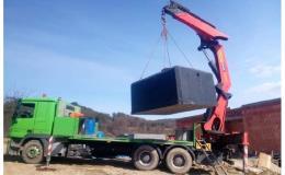 Dodávka a montáž betonové retenční nádrže