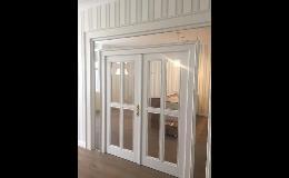 Dřevěné dveře se sklem na zakázku Praha