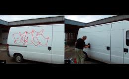 Odstranění grafitti a čištění fasád
